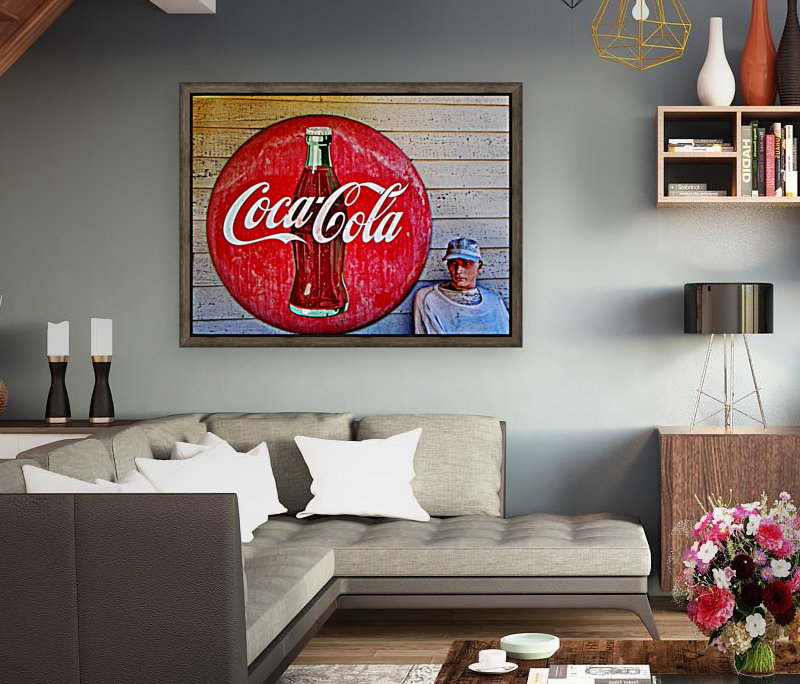 Coke   with Floating Frame