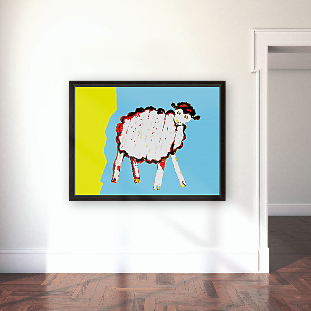Little Aussie Sheep - Blue  Art