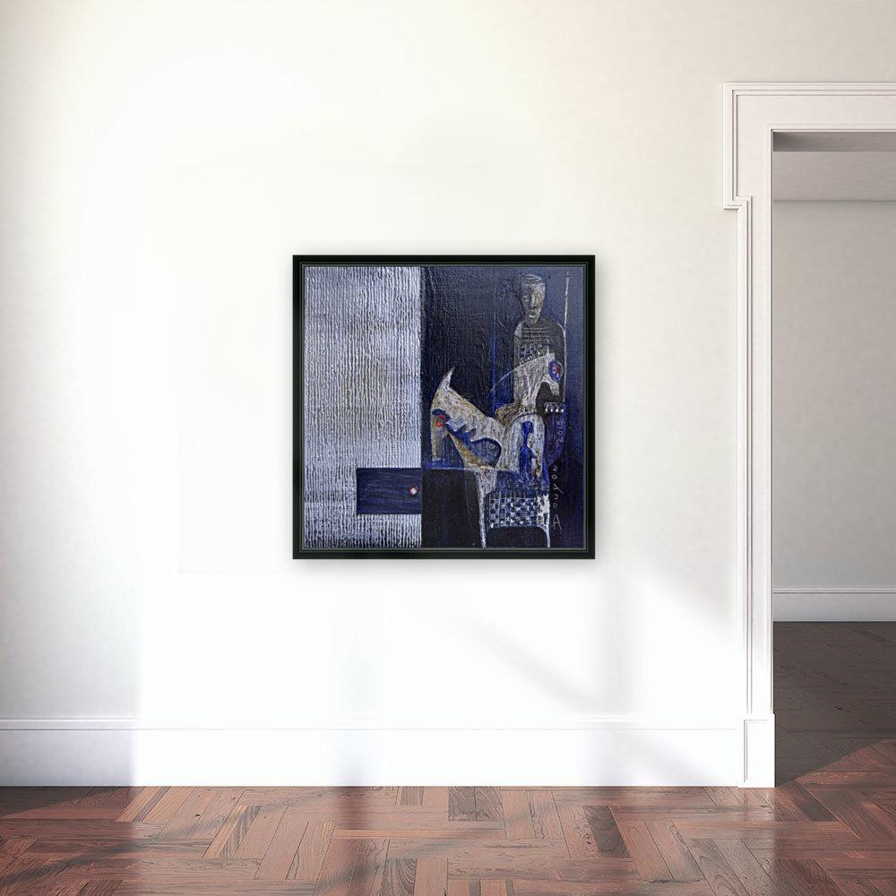 Blue Horserider 1  Art