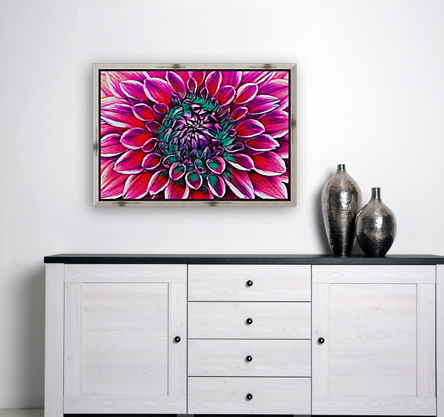 Red flower and Green  Art