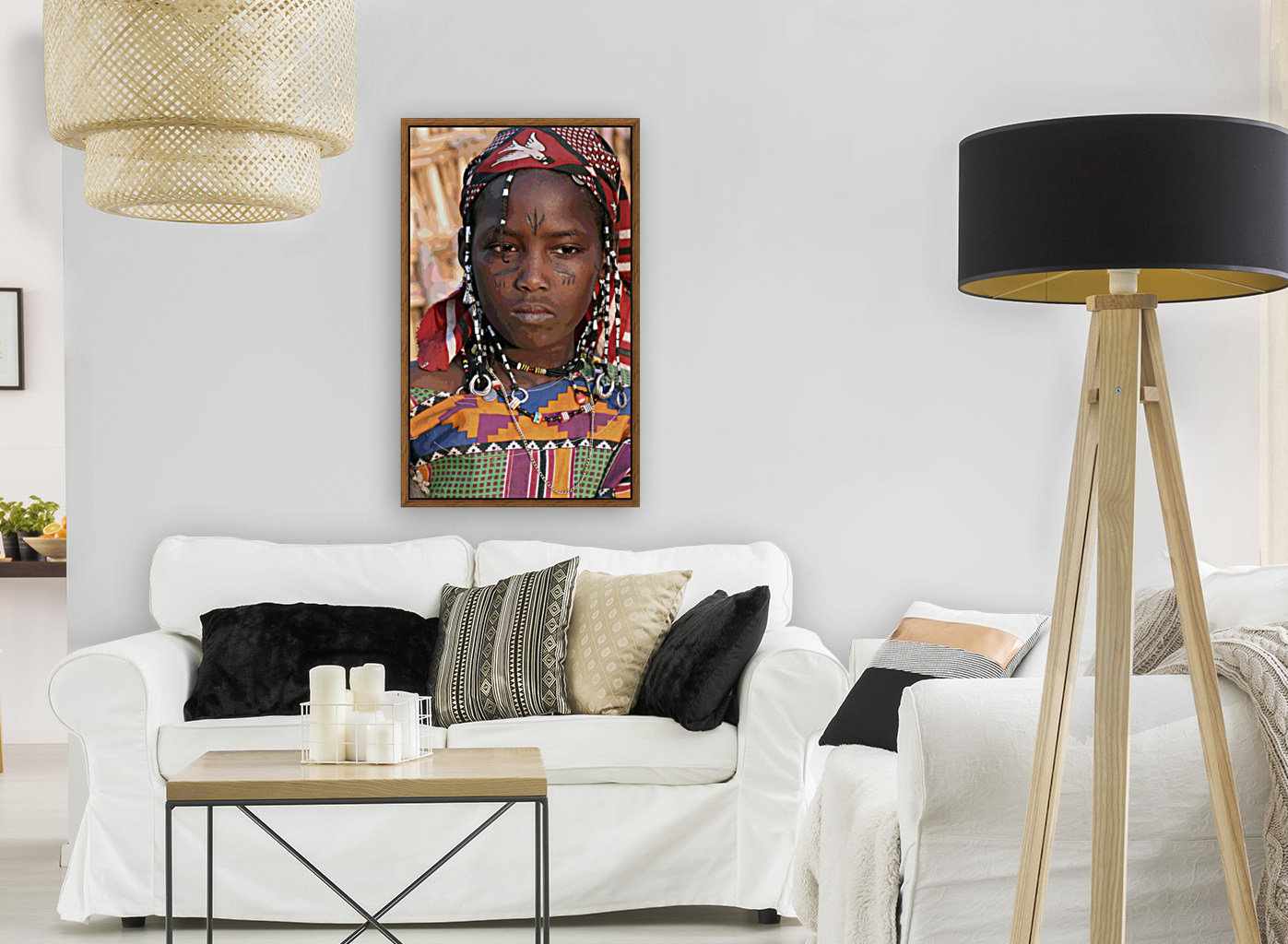 Jeune femme peule  with Floating Frame