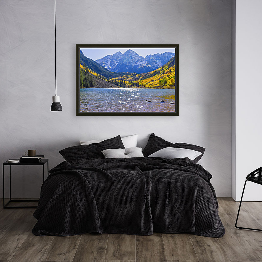 Maroon Lake and Bells with Floating Frame