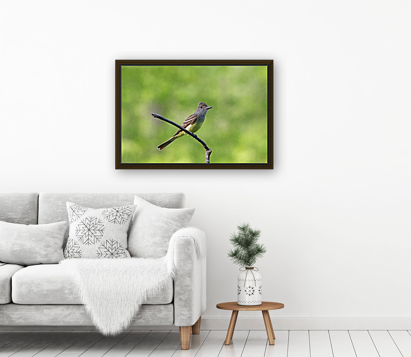Great Crested Flycatcher With Snack  Art