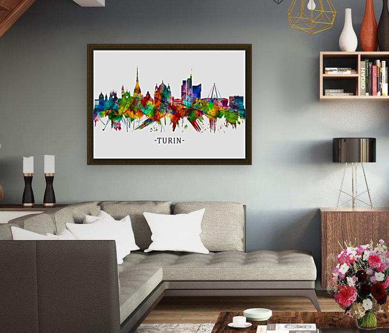 Turin Italy Skyline  Art