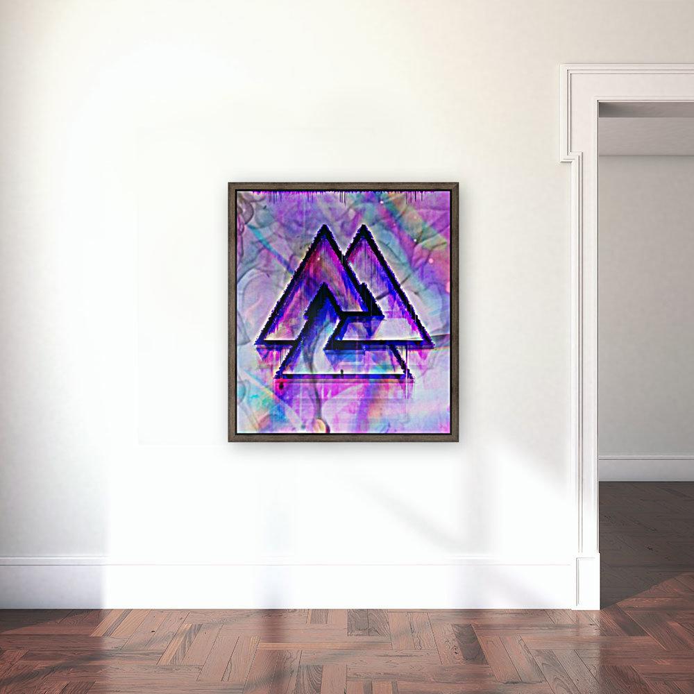 Valknut Colorful  Art