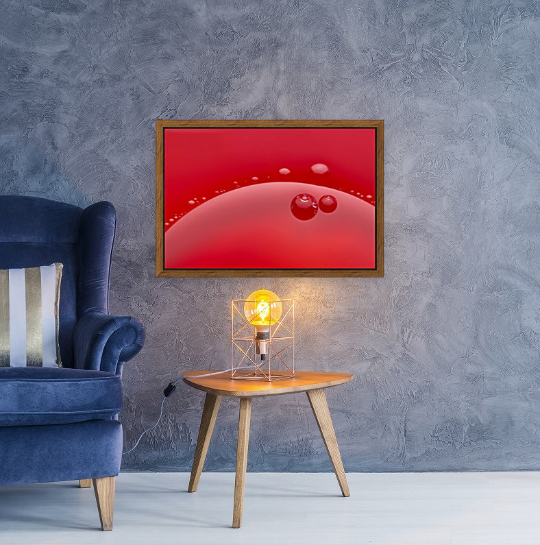 Abstract background of red color and circle shape  Art