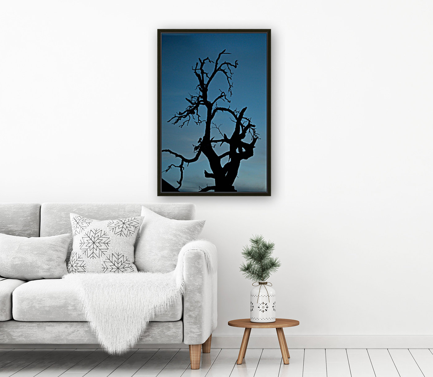 Haunted Tree with Floating Frame