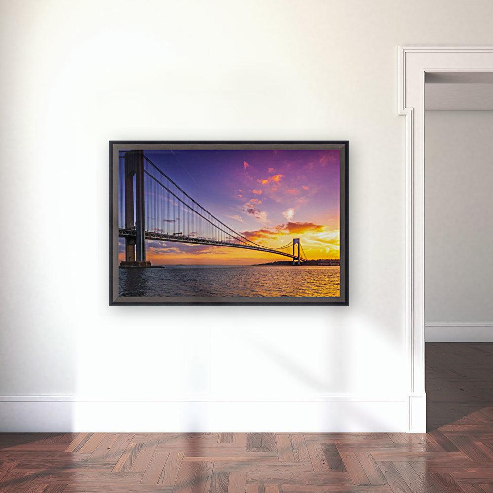Verrazano bridge at sunset  Art