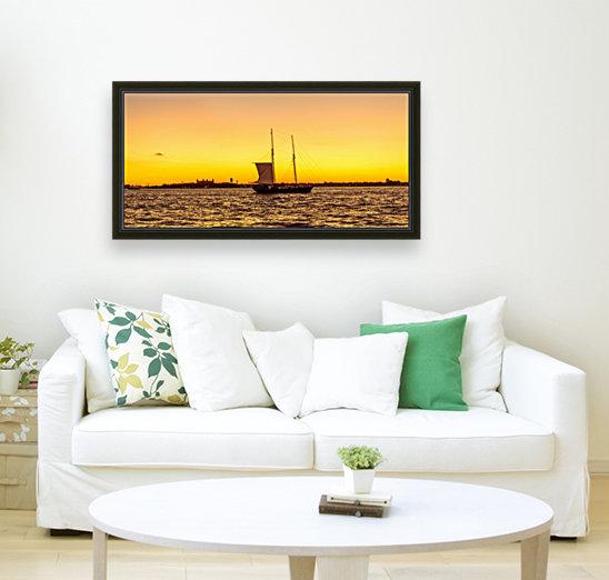 Sunset over the NY harbor  Art