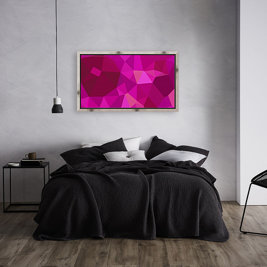 abstract geometric triangular art with Floating Frame