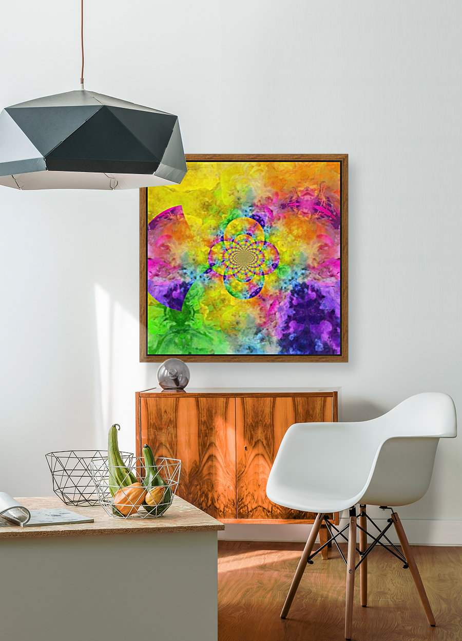 Colorful Fractal with Floating Frame