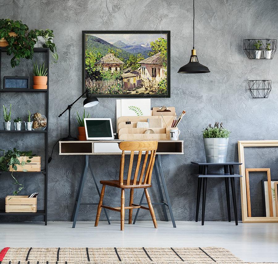 Village Scene  Art