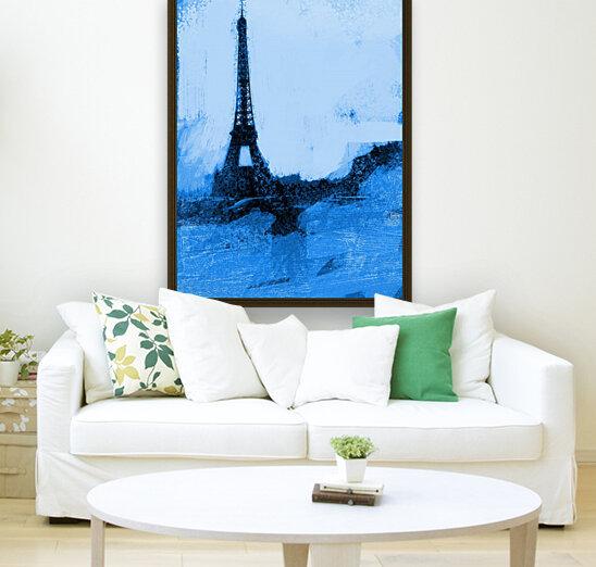 Paris Icon in Cyan  Art