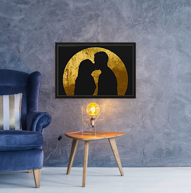 kiss and the moon  Art