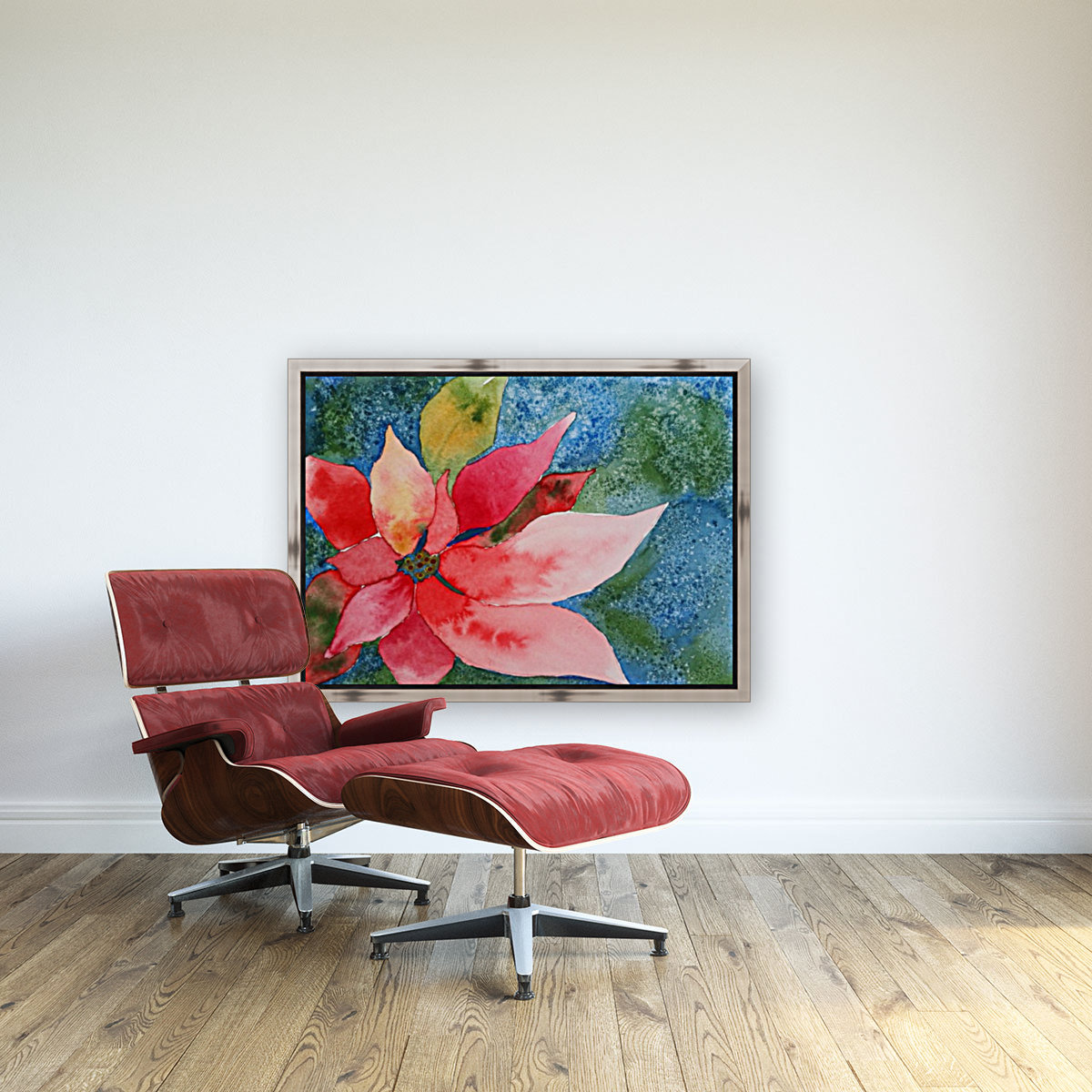 Poinsettia with Floating Frame