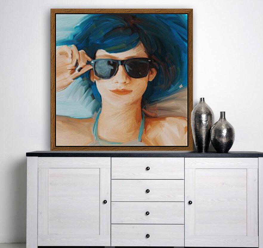 Blue Hair  Art
