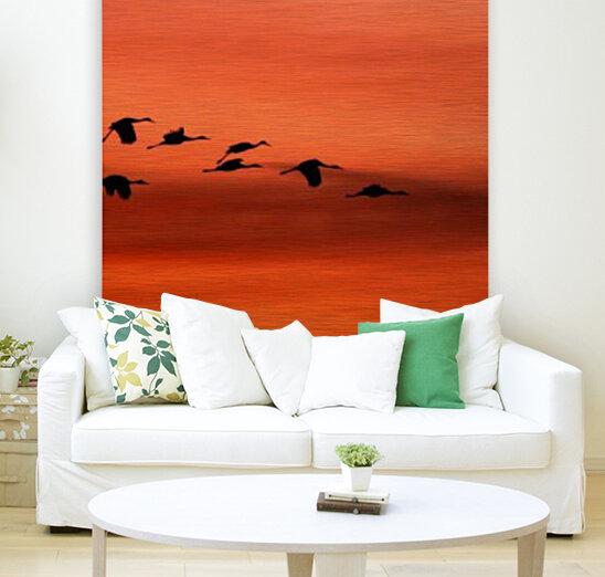 Sandhill Cranes at Sunset  Art