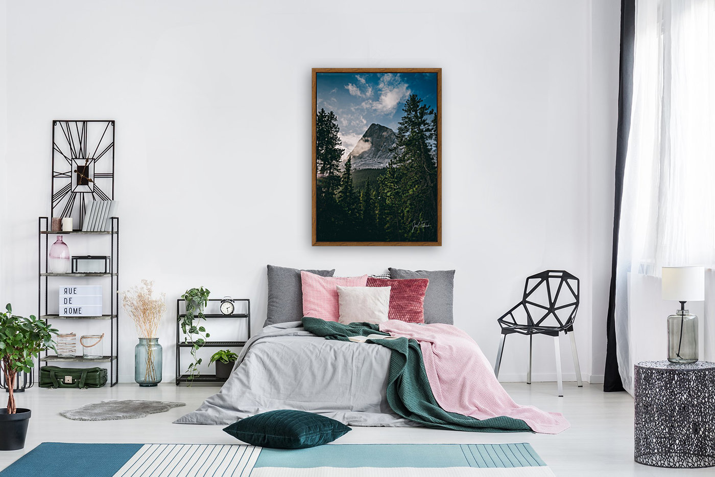 Hai Ling Morning Snow with Floating Frame