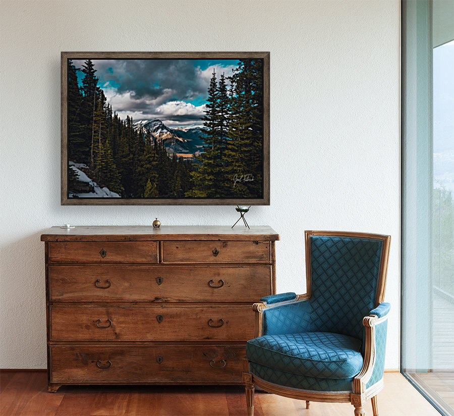 Cascade Mountain Through The Trees with Floating Frame
