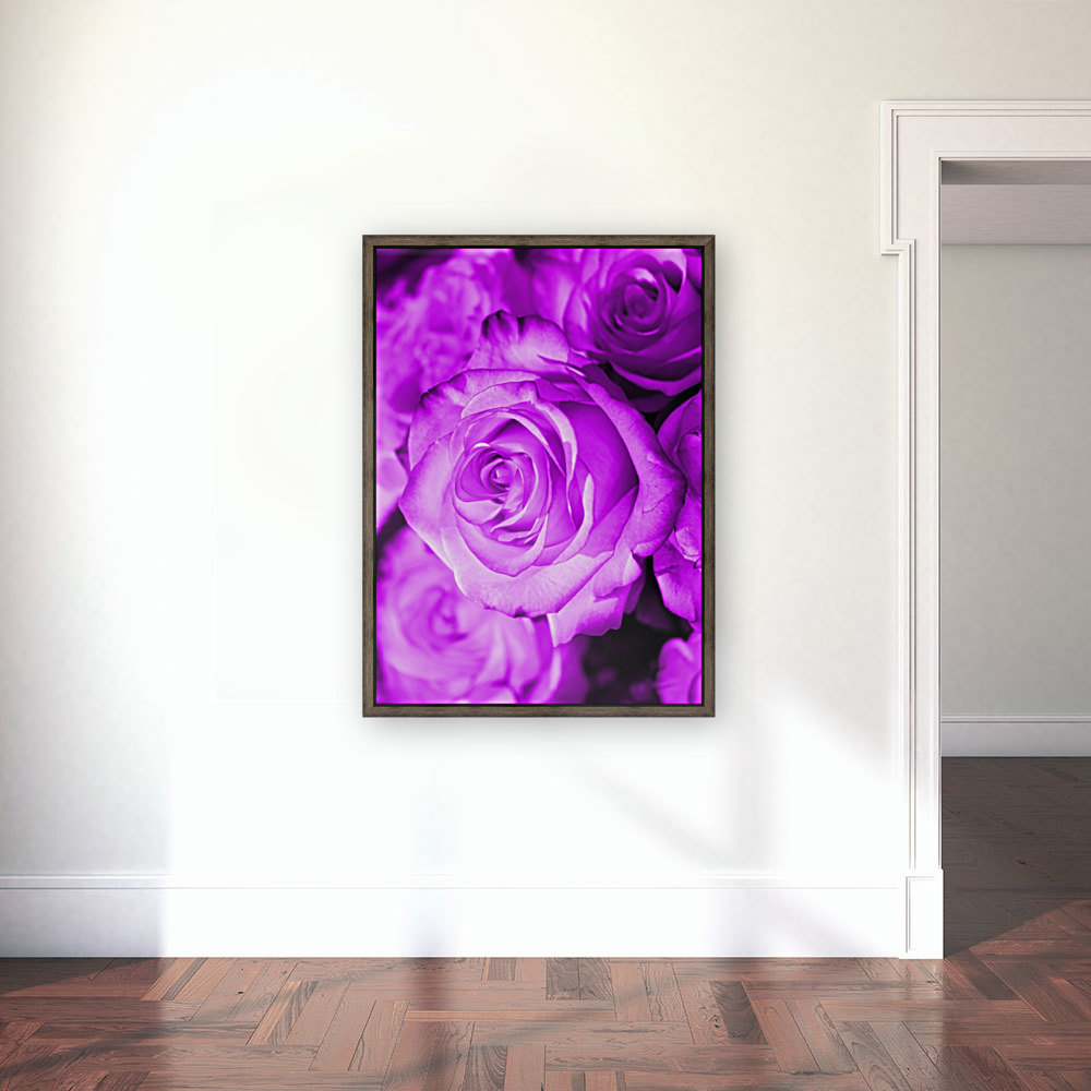 Rose purple  with Floating Frame