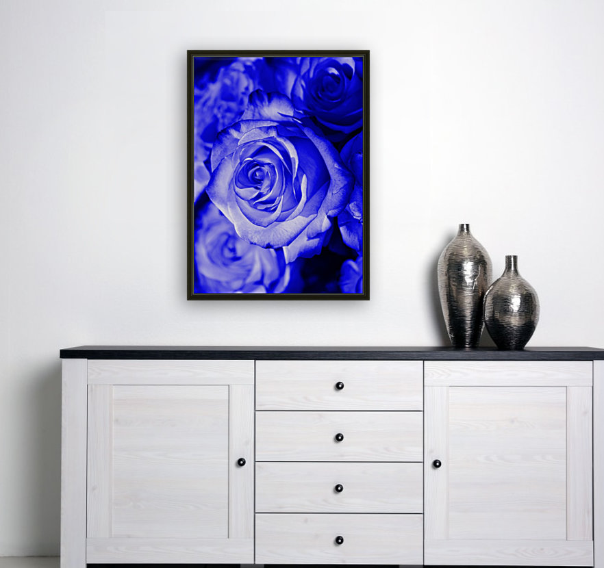 Rose blue with Floating Frame