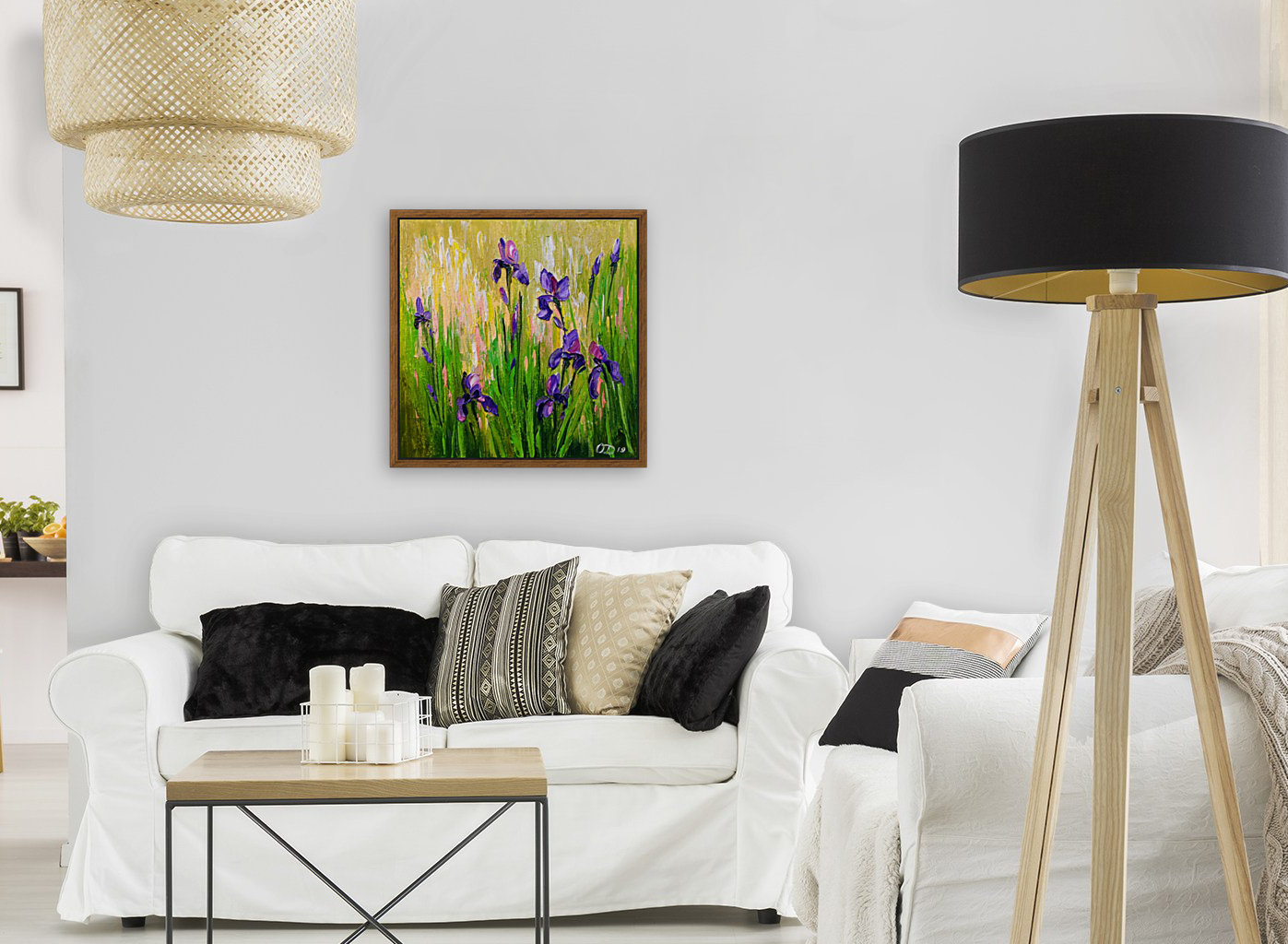 Irises with Floating Frame