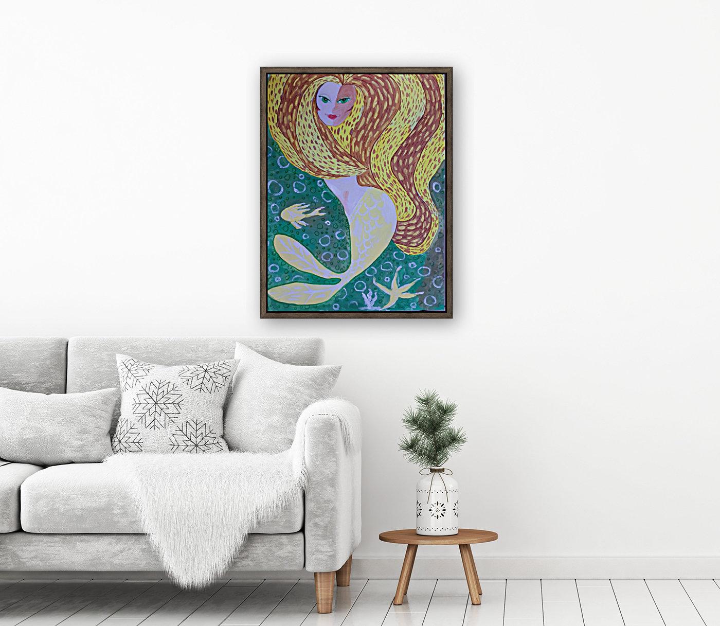 Mermaid Underwater   Art