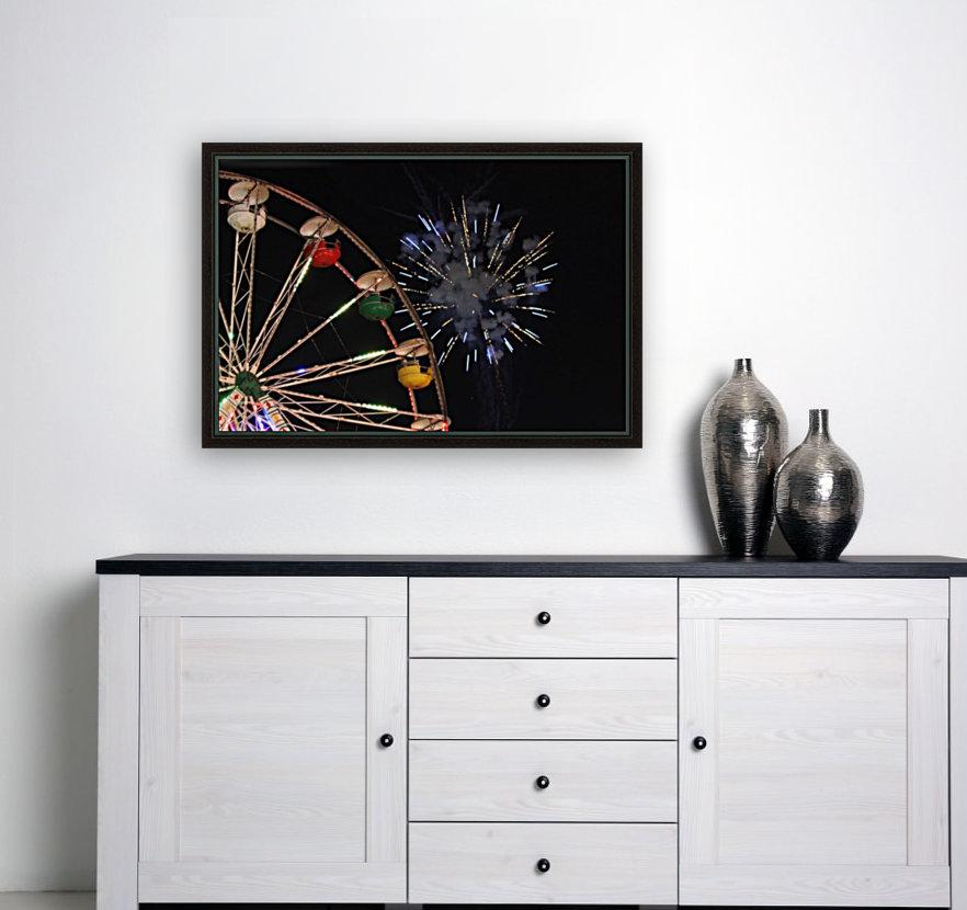 Ferris Wheel and Fireworks  Art