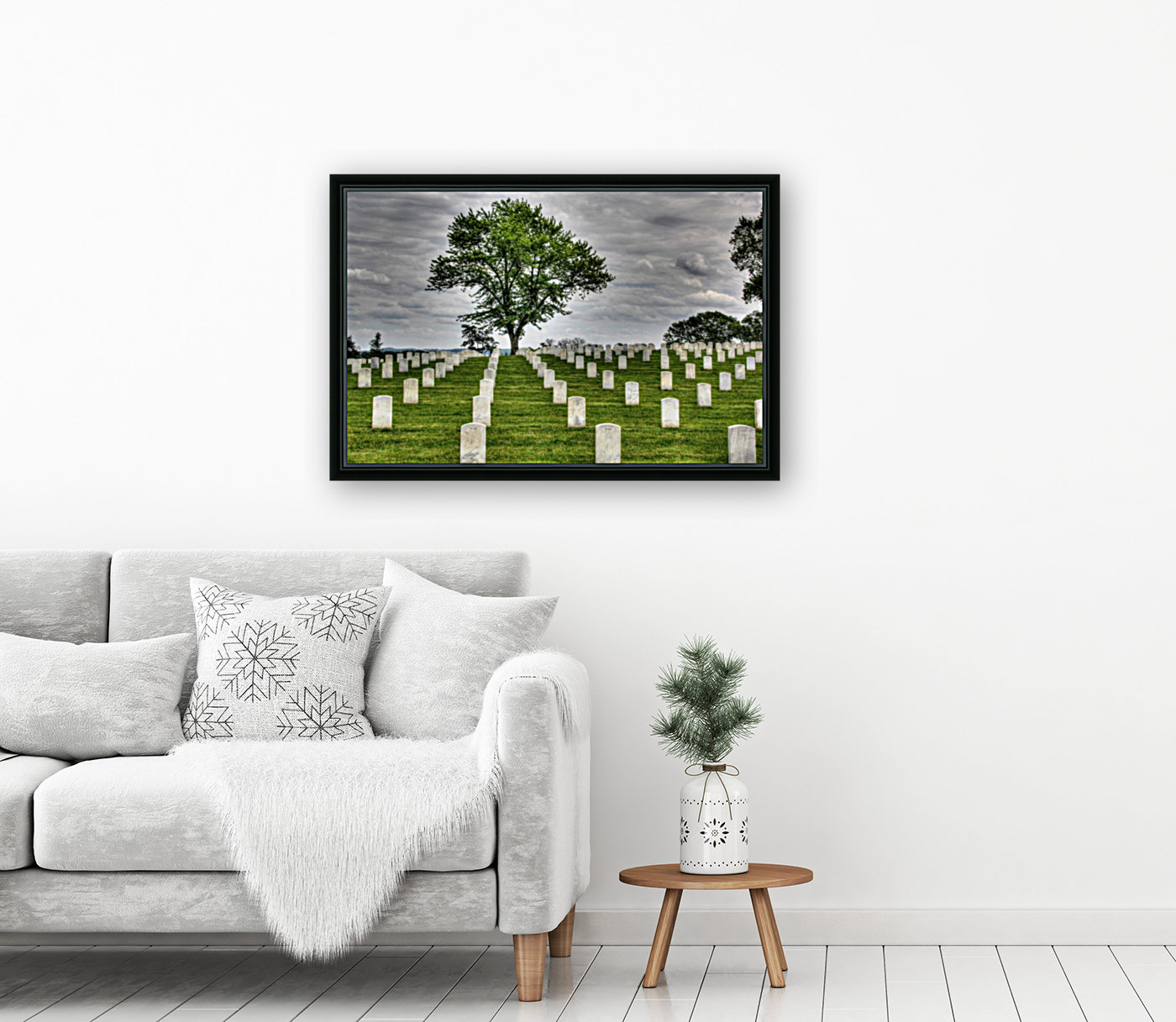 Cemetery Memorial Flags  Art