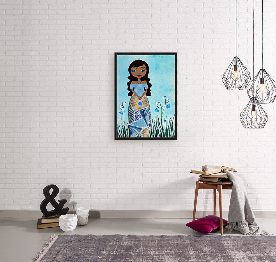 Wish Girl with Floating Frame