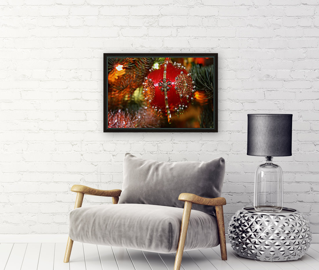 Festive Christmas holiday background with Santa Claus presents and tree.  Art