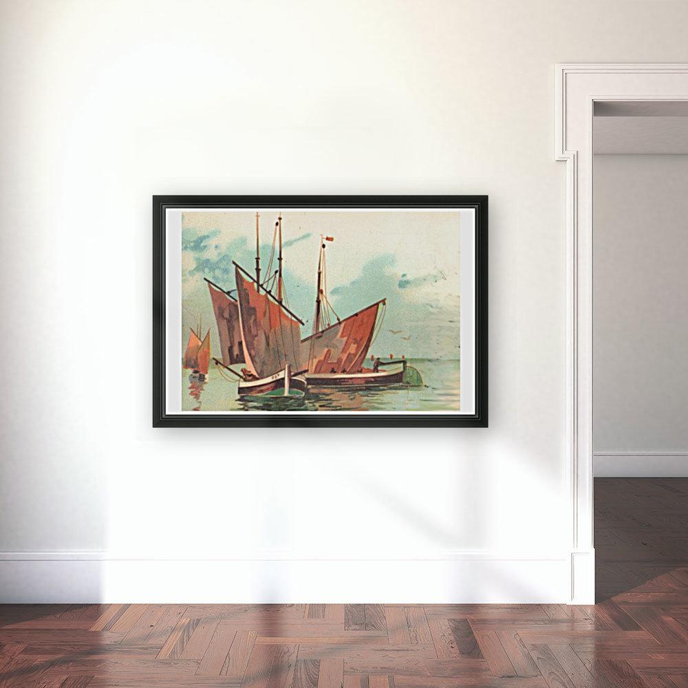 Greeting card Sailing boats  Art