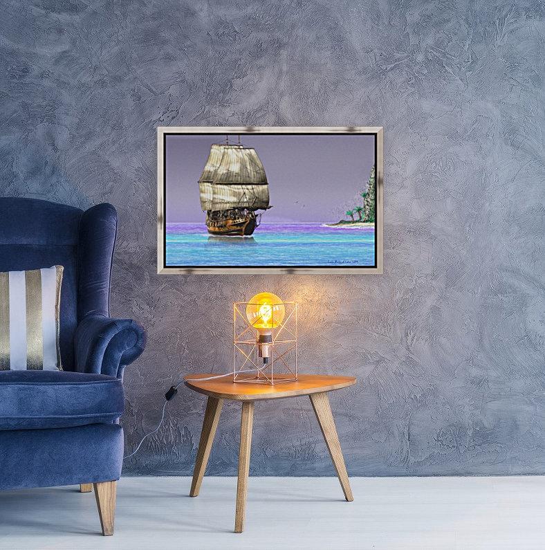 Sailship On A Tropical Island  Art