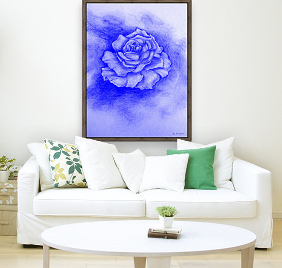 Celestial Rose with Floating Frame