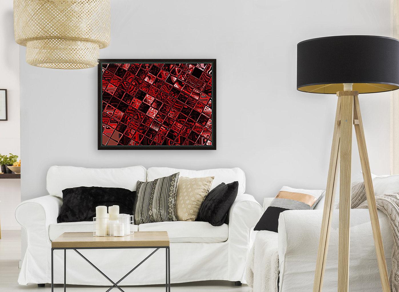 Red Glass Tiles 3  Art