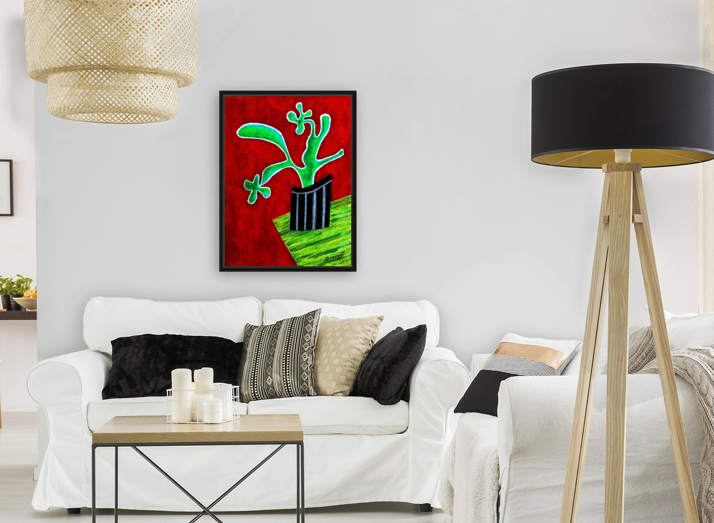 Cactus on Green Table  Art
