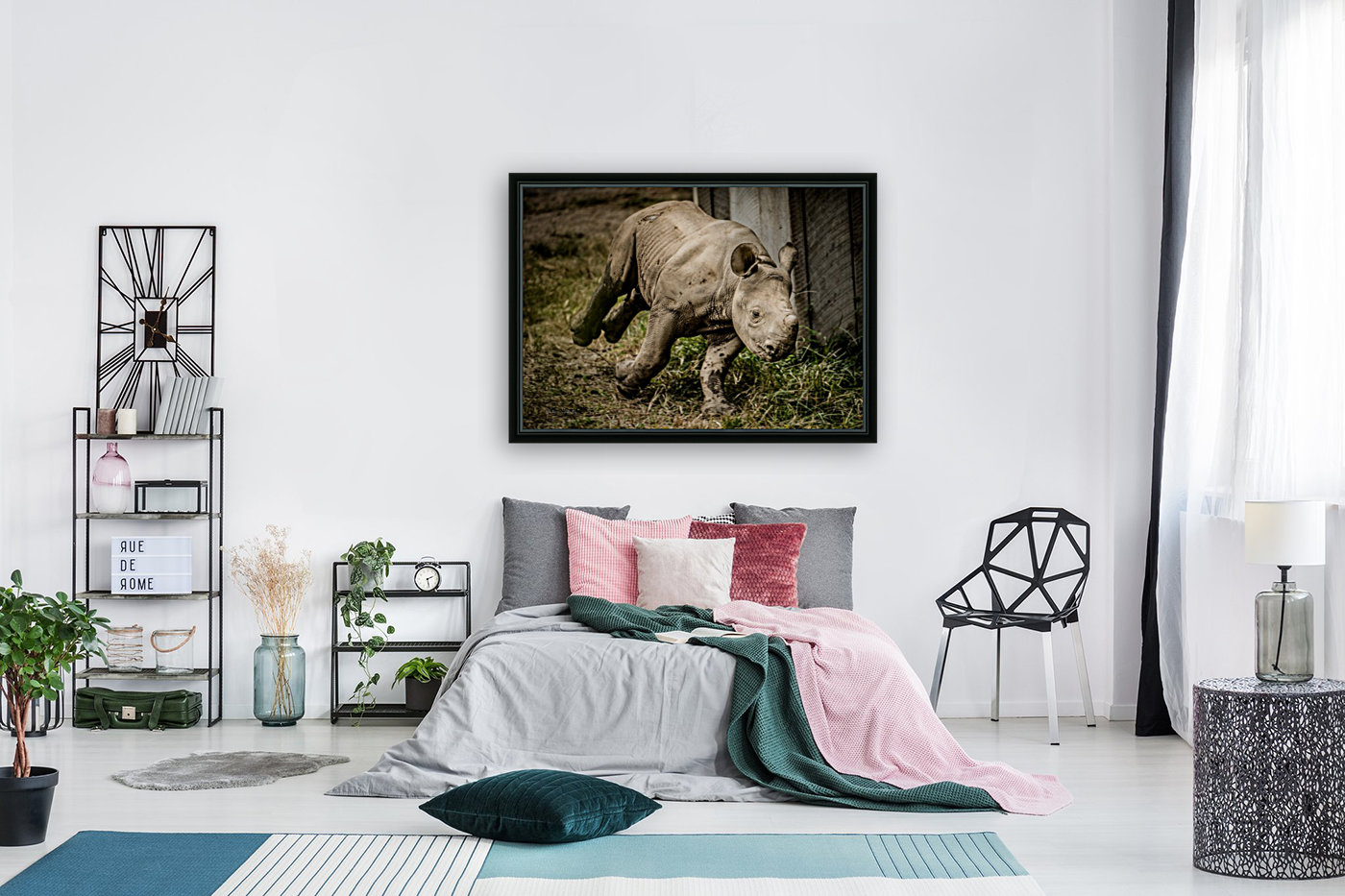 Baby Rhino with Floating Frame