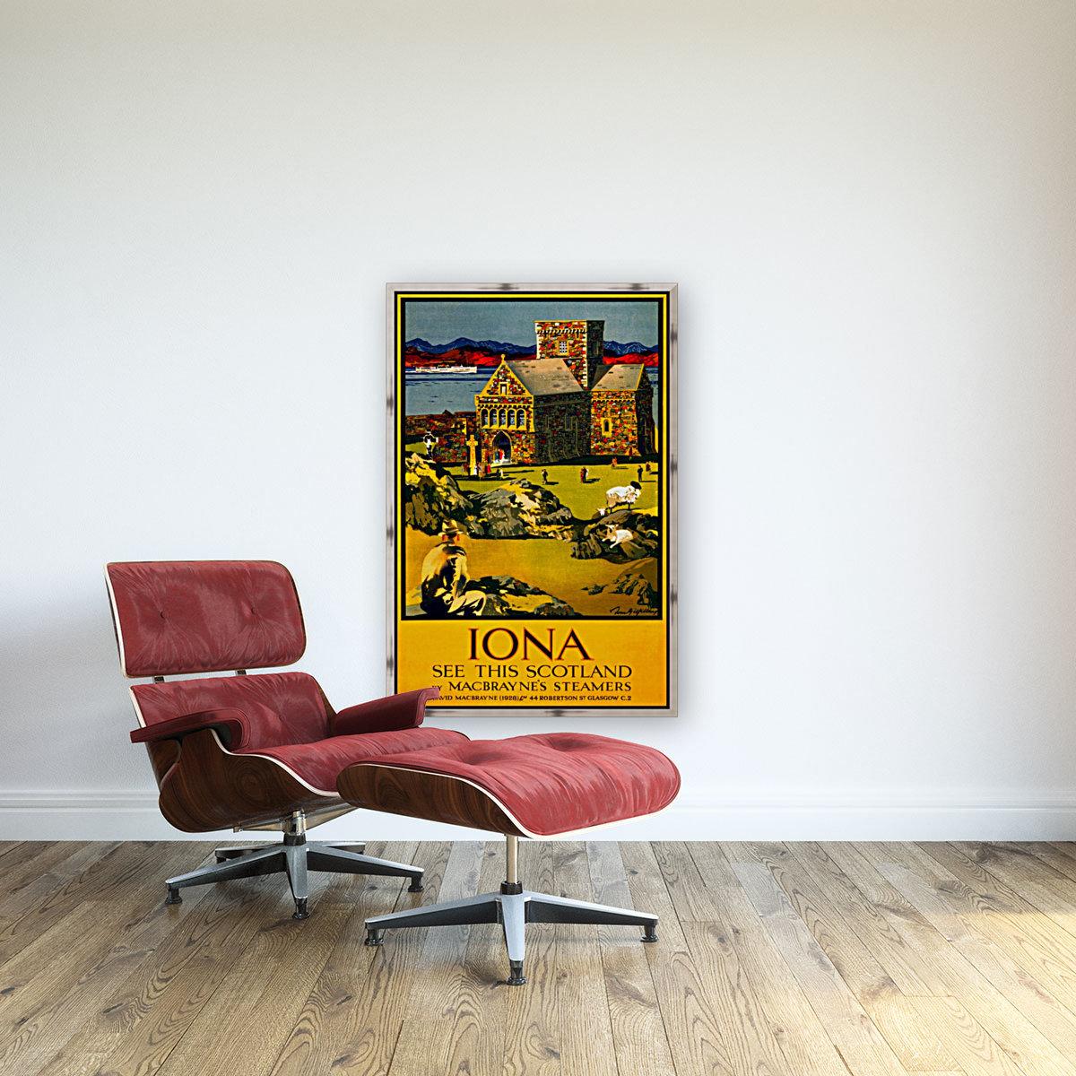 Vintage Travel - Iona Scotland  Art