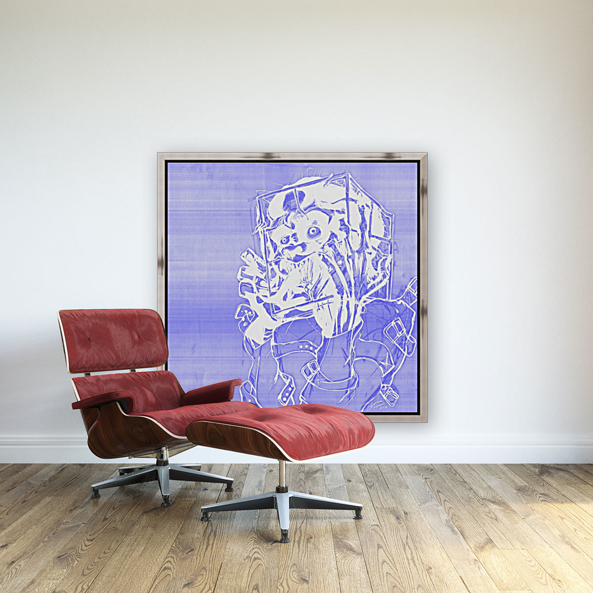 Jacle blue print  Art