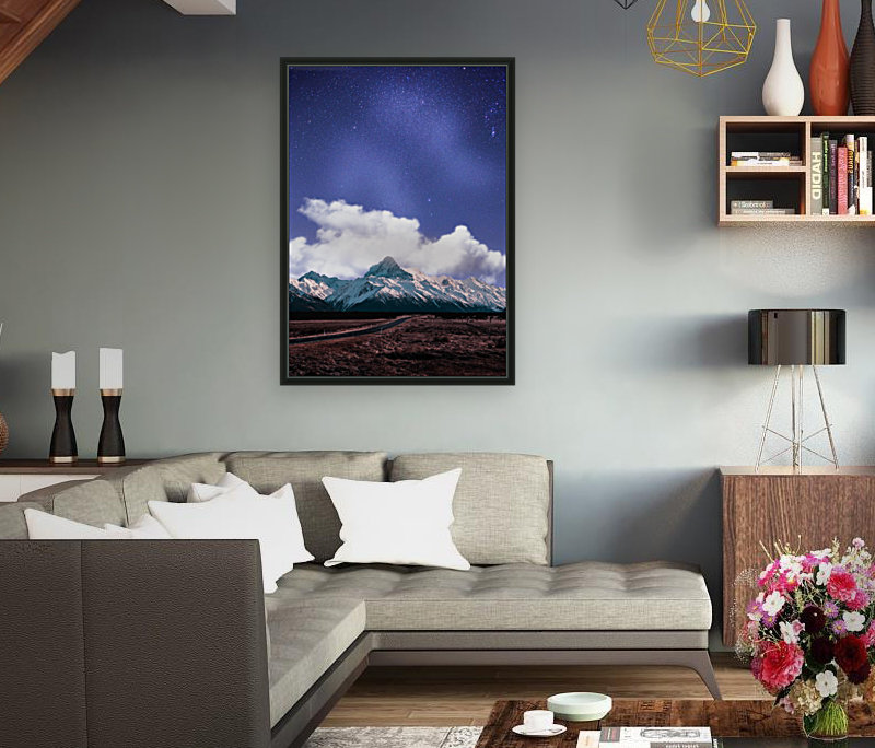 Blue Sky Over The Mountain  Art
