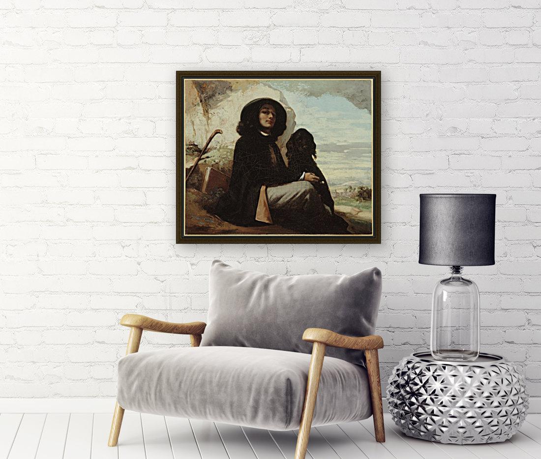 Autoportrait dit Courbet au chien noir  Art