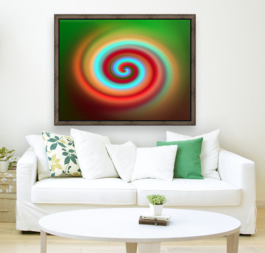 Swirl with Floating Frame