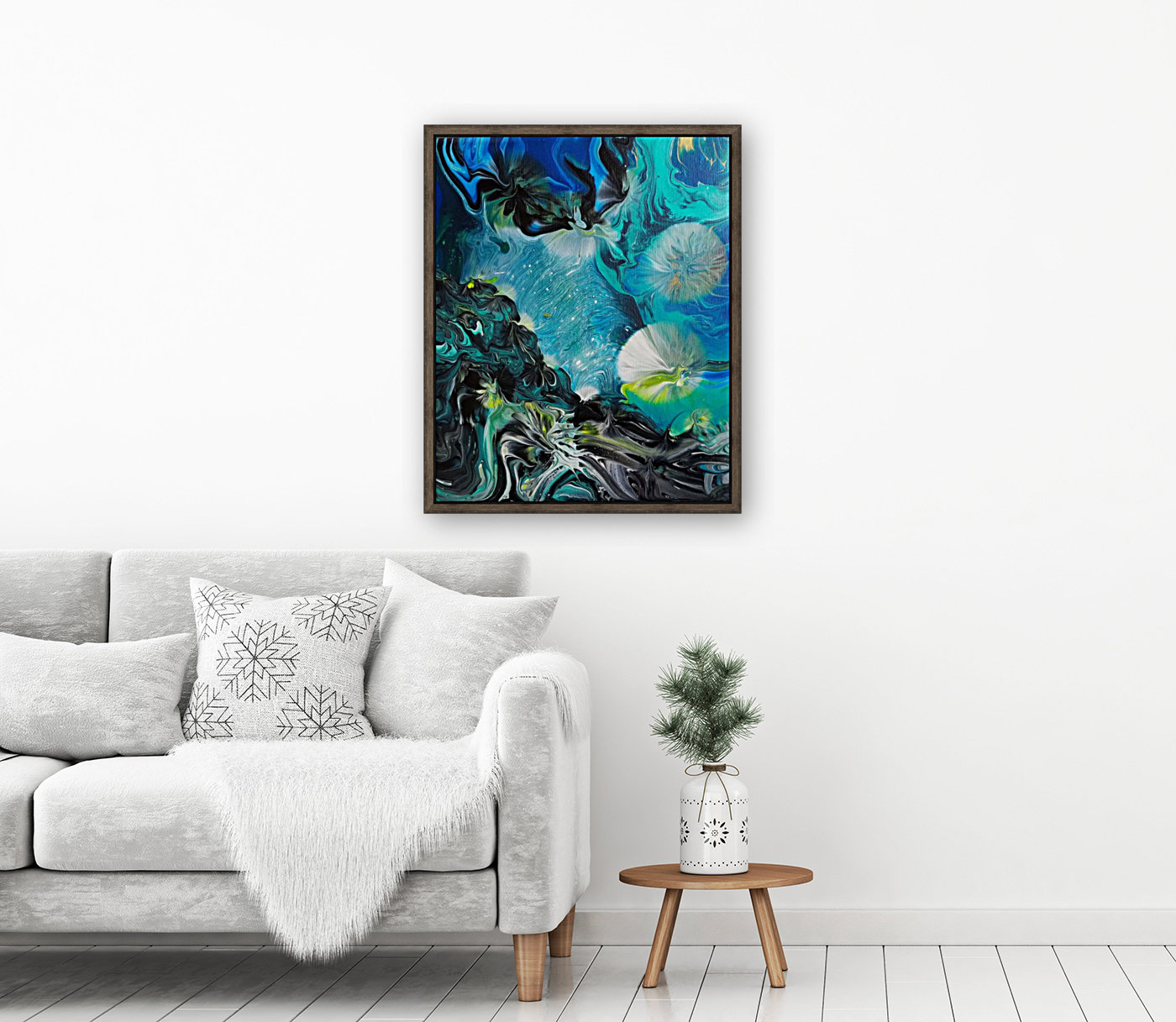 Galactic flowers with Floating Frame