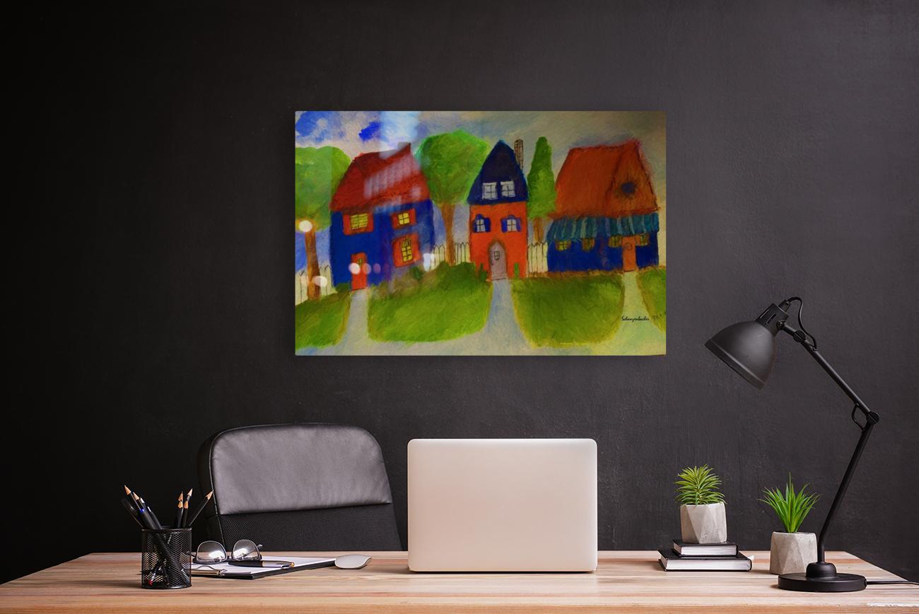 Whimsical Houses  Art