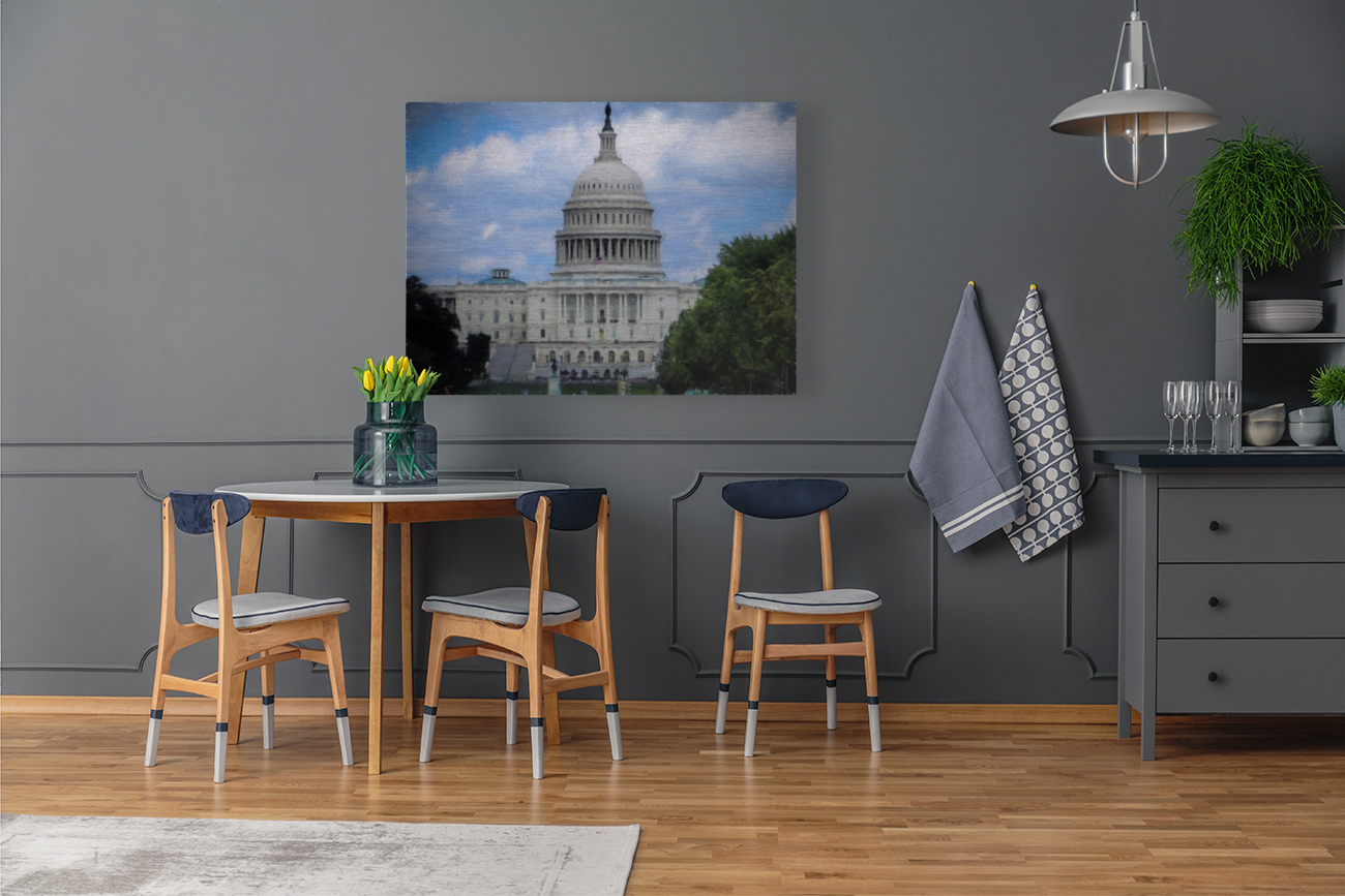 US Capital Building with Floating Frame