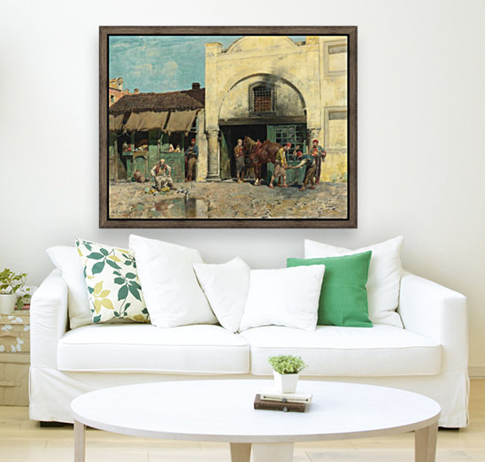 Oriental market with Floating Frame