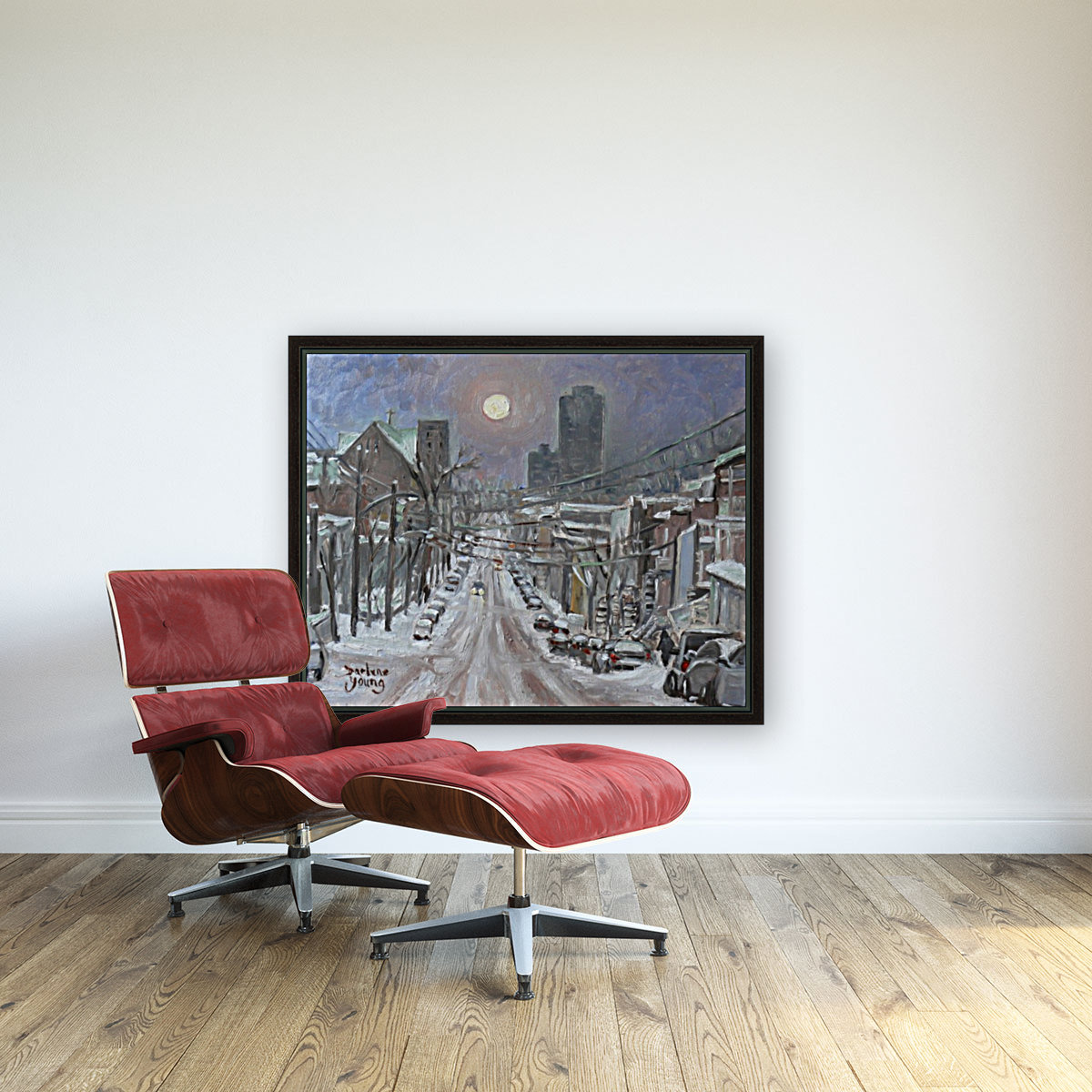 Full Moon Over Montreal  Art