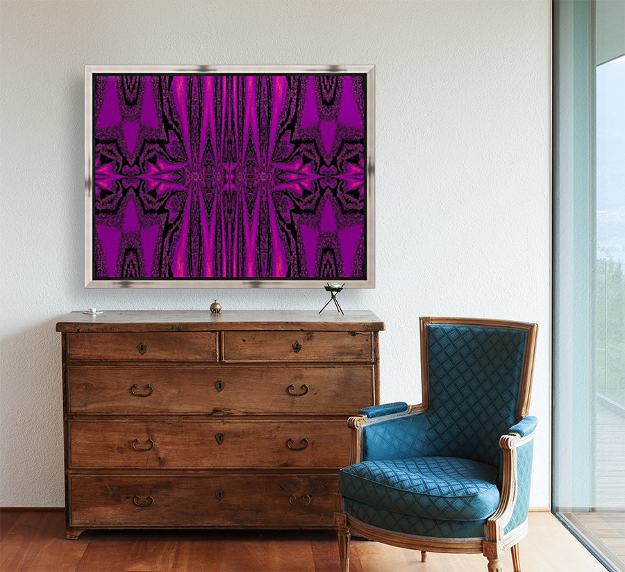 Purple Desert Song 1 with Floating Frame