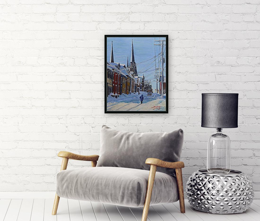 Charlottetown Winter Scene  Art