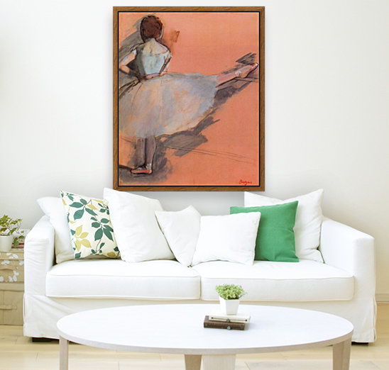 Dancer at the bar 1 by Degas with Floating Frame